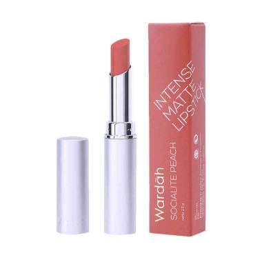 Wardah Intense Matte Lipstick - 01 Socialite Peach [2.5 gr]