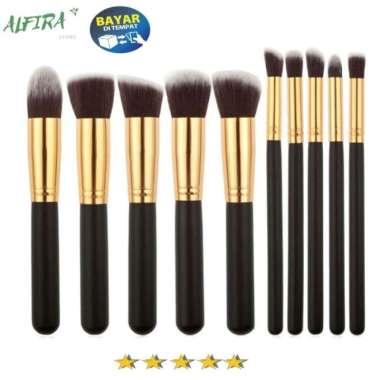 harga Unik Kuas Brush Make Up Wajah 10 set Universal PREMIUM QUALITY Limited Blibli.com