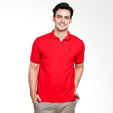 Red Cliff Wangky Polo Shirt Pria - Red [XD1001JJ]