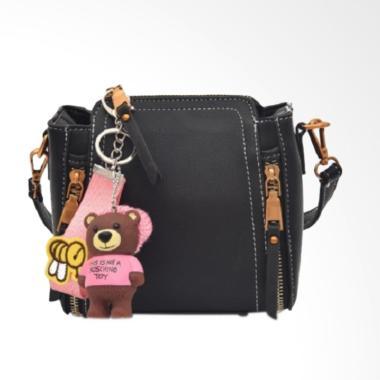 Fashion 0930020543 Fashion Gantungan Tas Selempang Wanita - Black
