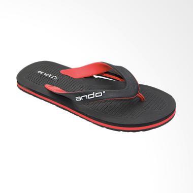 Ando Master 02 Casual Sandal Jepit Pria - Black Red