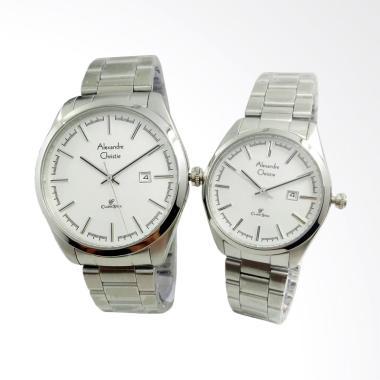 Alexandre Christie Jam Tangan Couple - Silver [AC8560CPL]