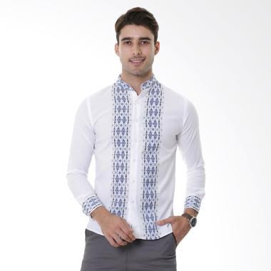 VM Slimfit Kemeja Koko Muslim Panjang Pria - Putih