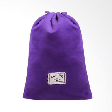 Exsport Drawstring Land Mark Backpack Wanita - Purple