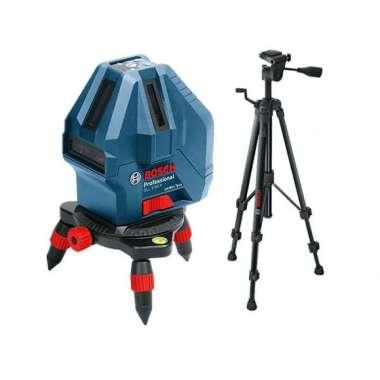 harga Bosch GLL 5-50 X Kit Laser Line Level with BT 150 Tripod Profesional and Tripod 5/8 Inch [15 m] Blibli.com
