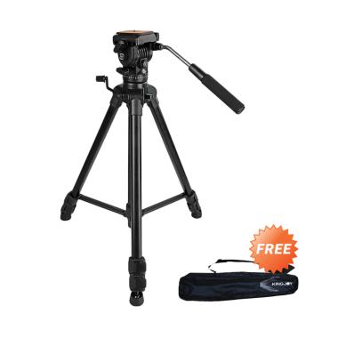 Kingjoy VT-1500 Video Camera Profesional Fluid Head Tripod + Free Bag
