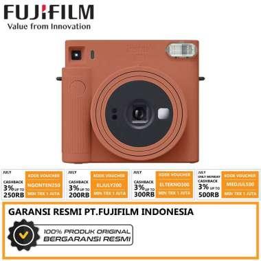 FUJIFILM INSTAX Square SQ1 Instant Film Camera - Putih Terracotta Orange