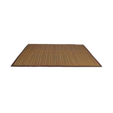 Hagihara Igusa Motif Lurik Karpet - Coklat [Size Besar]