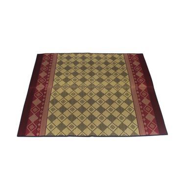 Hagihara Motif Tenun Igusa Karpet - Merah
