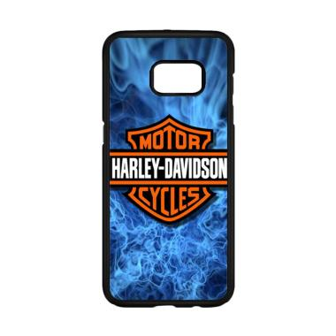 Cococase Harley Davidson Blue Flame X4978 Casing for Samsung Galaxy S6 Edge Plus
