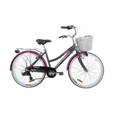 United Sepeda Keranjang - Grey Pink [TC 3650 C171/ 26 Inch]