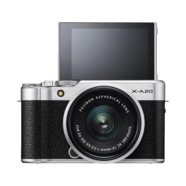 Fujifilm XA20 X-A20 Silver Kit XC 1 ... ) jpckemang GARANSI RESMI