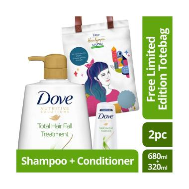 Dove Total Hair Fall Treatment Sham ... ted Edition Totebag Tosca