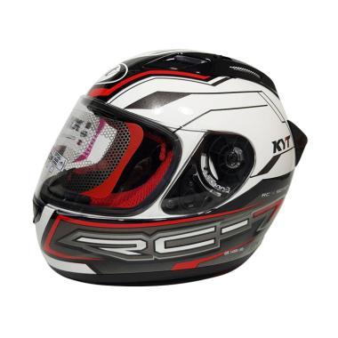 harga KYT RC7 RC 7 #14 Helm Full Face - Black Red Blibli.com