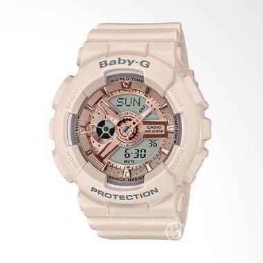 CASIO Baby-G BA-110CP-4A Jam Tangan Wanita - Pink Beige [Original]