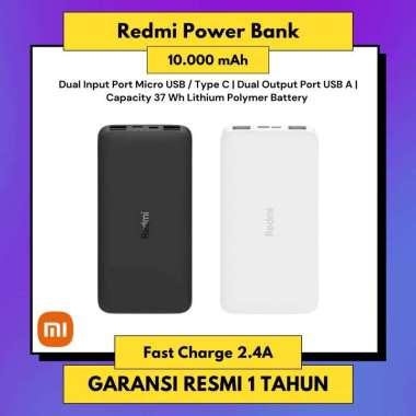 Power Bank Redmi 10000 mAh Fast Charging 18W - Powerbank Xiaomi Original 100% Black