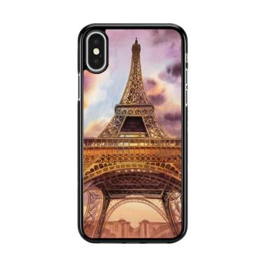 Flazzstore Eiffel Painting Of Paris Y2145 Premium Casing for iPhone X