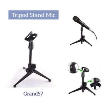 harga Promo stand microphone mini stand holder mikrofon tripod penyangga mic kaki Limited Blibli.com