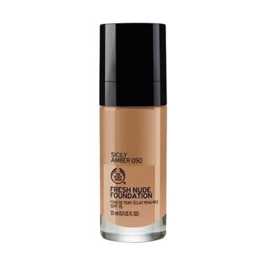 The Body Shop Fresh Nude SPF15 Foundation - 050 Sicily Amber [30 mL]