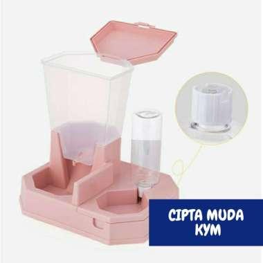 harga Pet feeder dispenser tempat makan minum anjing kucing hewan - Pink Blibli.com
