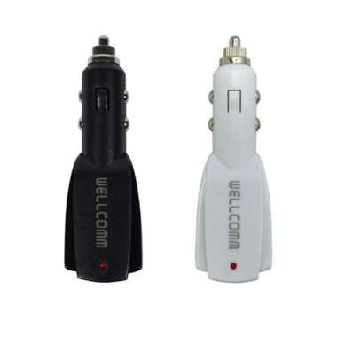 Wellcomm Dual Connector USB Car Charger 3.1A - White