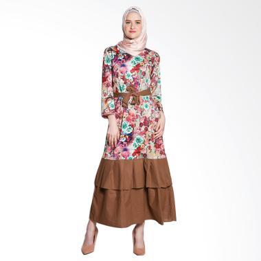 Koesoema Clothing Floral Cassandra  ... aist Tie Baju Gamis Jumbo
