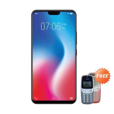 VIVO V9 Pro Smartphone - Red [64GB/ 6GB] + Free Prince PC-5 Handphone