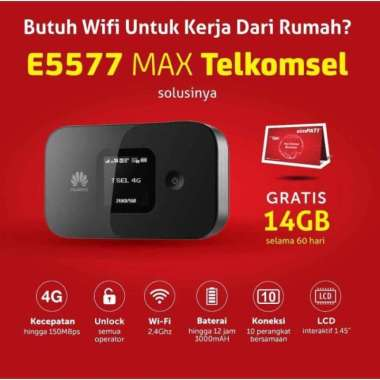 harga Huawei Mifi 4G LTE E5577 Max 3000mah Free TSEL 14Gb Versi BYPASS MULTY COLOUR Blibli.com