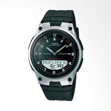 Casio Analog Digital Jam Tangan Pria - Black [AW-80-1A]