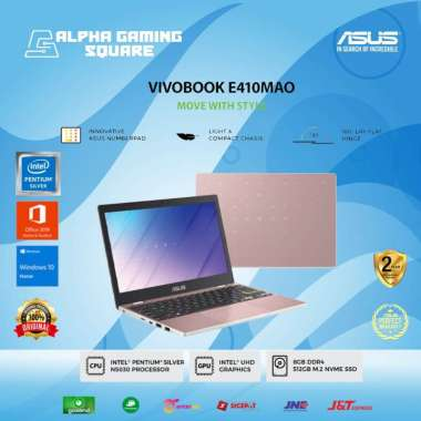 harga Laptop Asus E410MAO-VIPS556-Rose Gold-[Intel Pentium Silver N5030/8GB/SSD 512GB/14