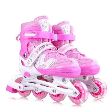harga Sepatu Roda Inline Anak Anak Skate Bisa Roda Bajaj Lengkap Dengan Baut M merah muda Blibli.com