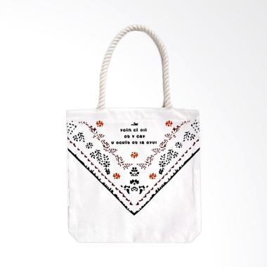 Paroparoshop Bahu Import Galisa Tote Bag Wanita - White