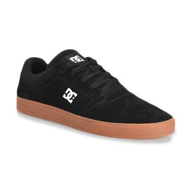 DC Crisis M Sneaker Sepatu Pria - Black White Gum