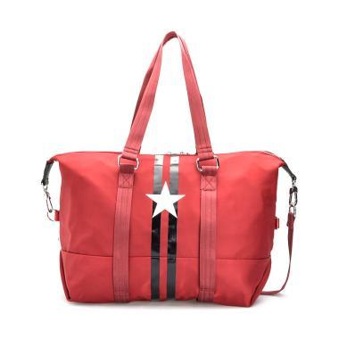 harga BLYTHE Stars Nylon Tote Tas Pria - Red Blibli.com