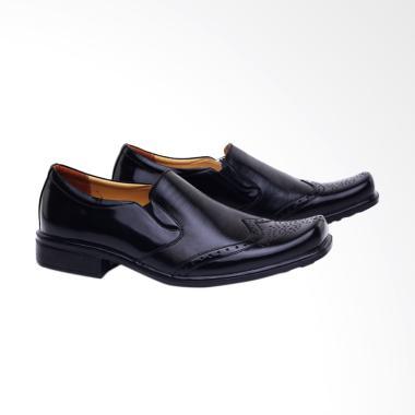 Garucci Sepatu Formal Pria - Black [F1GH 0398]