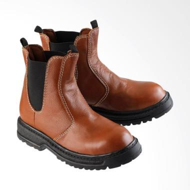 Golfer Men Safety Sepatu Boots Pria - Brown  1112  9f128210dd