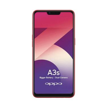 OPPO A3S Smartphone - Merah [32GB/ 3GB]