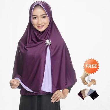 harga Zannah Hijab Jumbo Jilbab Bolak Balik - Lavender + Free Inner Rajut + Free Kaos Kaki Ninja Blibli.com
