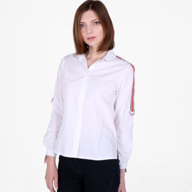 Magnolia 8652055575 Shirt with Stripe Detail Atasan Wanita - White
