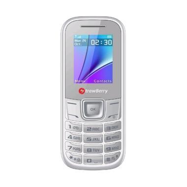 harga Strawberry Bomb S5 Handphone [Dual SIM/ Radio FM] White Blibli.com
