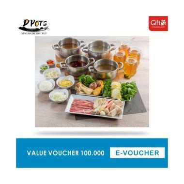 D Pots Singapore Voucher Value Rp 100.000