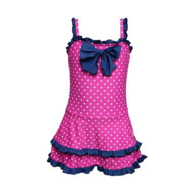 Lasona SW-D3223J-L01859 Baju Renang Anak Perempuan - Magenta