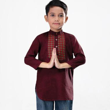 Syaqinah 055 Baju Muslim Anak Laki-laki - Maroon 14f343c5be