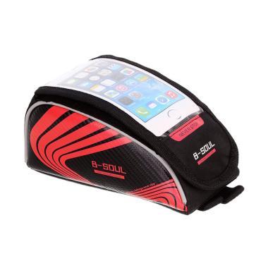 harga B-Soul Tube Bag with Touchscreen Pocket for Handphone 5.5 Inch - Hitam Merah Blibli.com