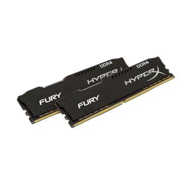 harga Kingston HyperX HX424C15FBK2/8 Fury DDR4 Memory RAM [8GB (4GBx2)/ 2400Mhz] Blibli.com