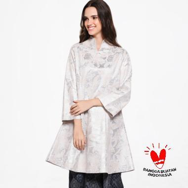 Mari Berkain Tunik Atasan Wanita - Silver