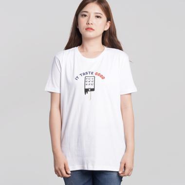 Osella Ladies It Taste Good T-Shirt Wanita - White