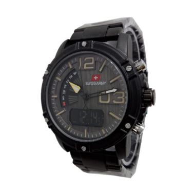 Swiss Army Dualtime Jam Tangan Pria - Black [Sa722]