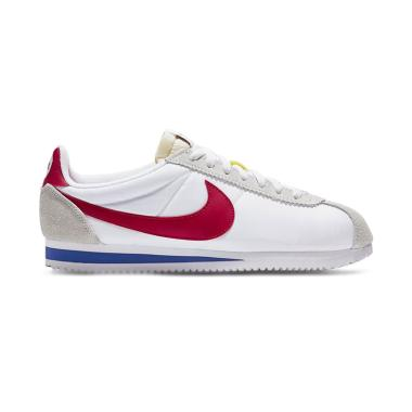 new concept 7e351 87973 NIKE Classic Cortez Nylon Prem Qs Sepatu Sneakers Pria - White Red