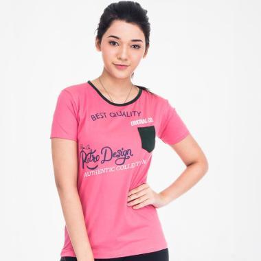 Seyes S14225613 T-shirt Wanita - Peach